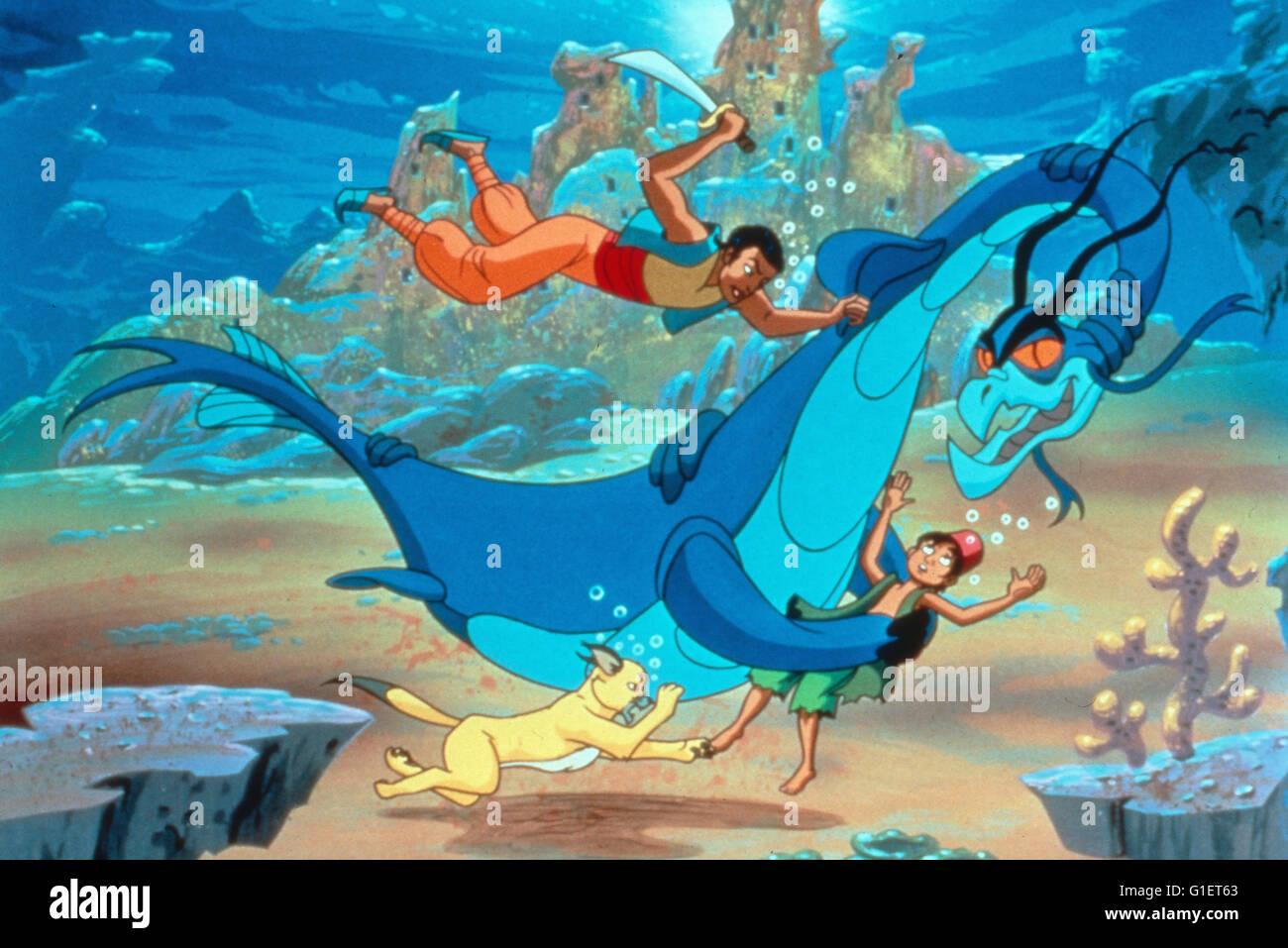 As fantásticas viagens de Sinbad o marinheiro, aka: Die fantastischen Abenteuer von dem Seefahrer, Zeichentrickserie Imagens de Stock