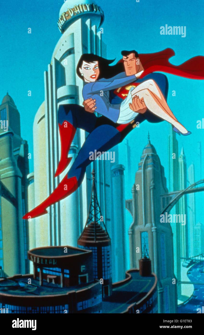 Superman, Zeichentrickserie, EUA 1988, Szenenfoto Imagens de Stock