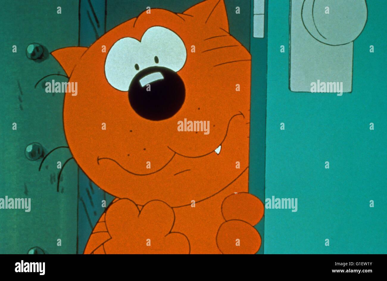 Heathcliff e a Catillac gatos, aka: Heathcliff und Riff Raff, Zeichentrickserie, EUA/Frankreich/Kanada/Japão Imagens de Stock