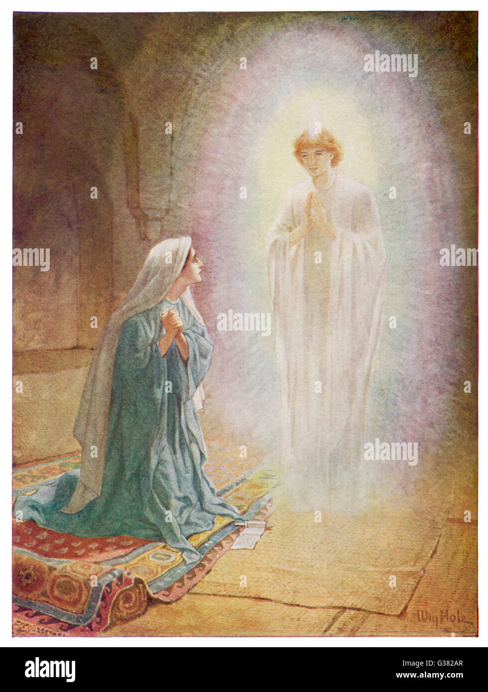 Mary Learns From The Angel Gabriel That She Is Going To Be The Stock