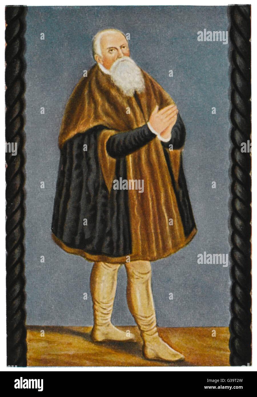 LUCAS CRANACH Pintor Alemão, gravador e designer de xilogravura Data: 1472 - 1553 Imagens de Stock