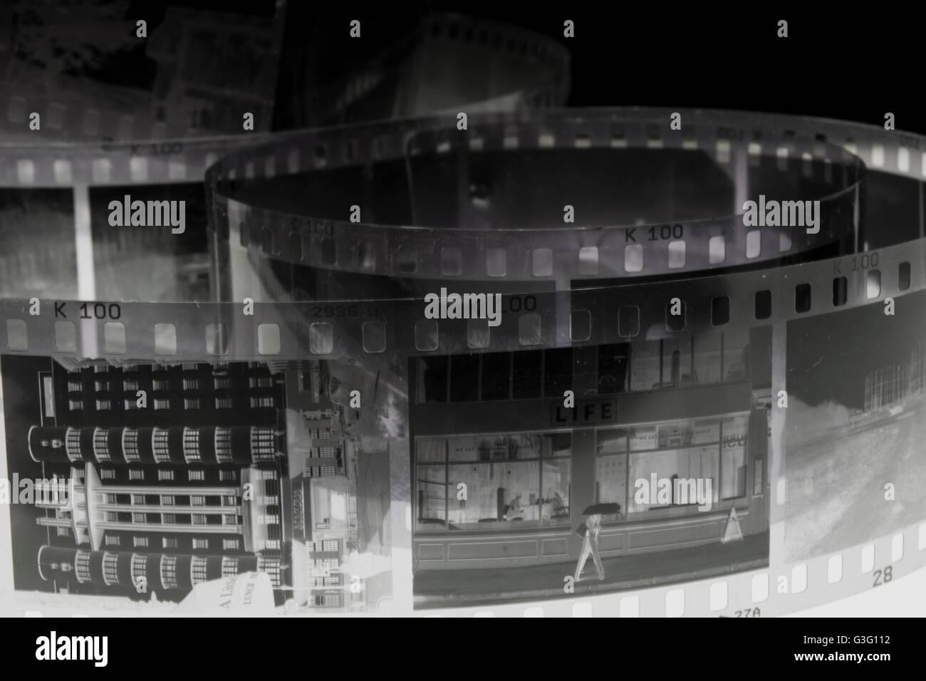 Captura de negativo de edifícios Imagens de Stock