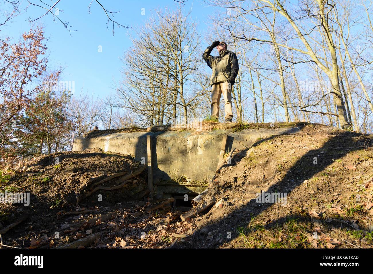 Bunker da 2 ª Guerra Mundial no Junge Heide, Dresden, Alemanha, Sachsen, Saxónia, Imagens de Stock