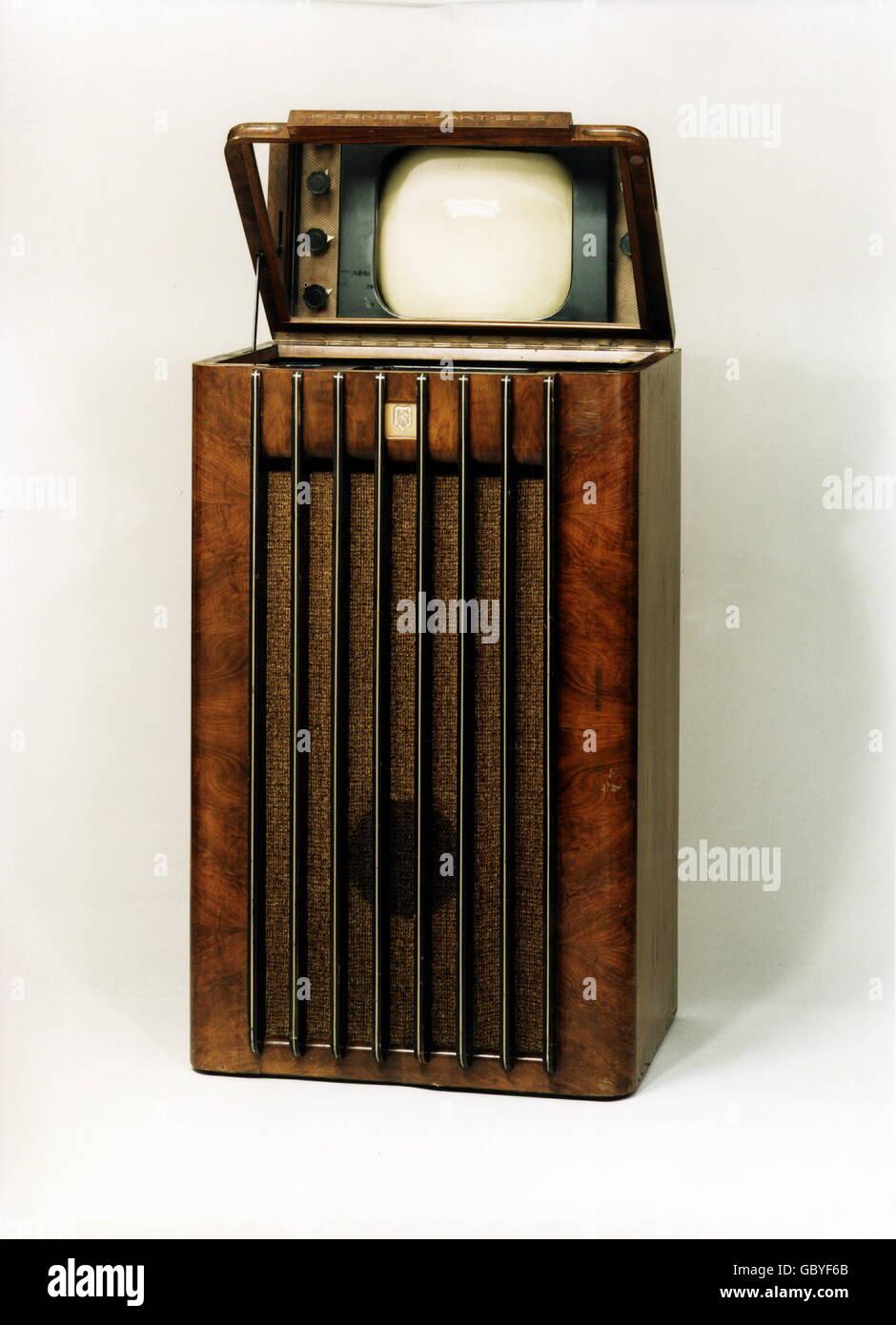 Difusão, Televisão, Vista Fernseh AG com espelho, 1937, Additional-Rights-Clearences-NA Imagens de Stock