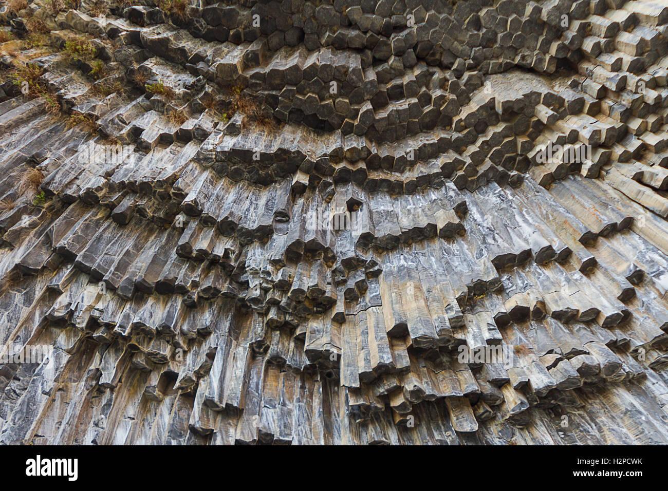 Colunas de basalto conhecido como sinfonia de pedras na Arménia. Imagens de Stock
