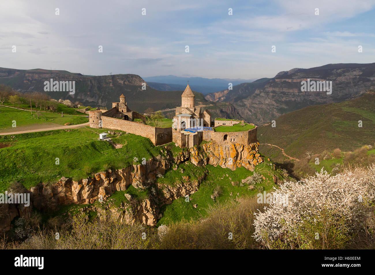 Mosteiro Tatev na Arménia. Imagens de Stock
