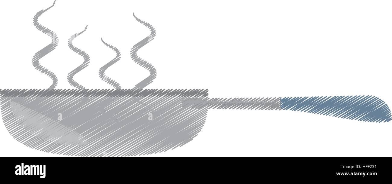 Desenho Frigideira Cozinha E Utens Lios De Cozinha Ilustra O Do  ~ Desenho Utensílios De Cozinha
