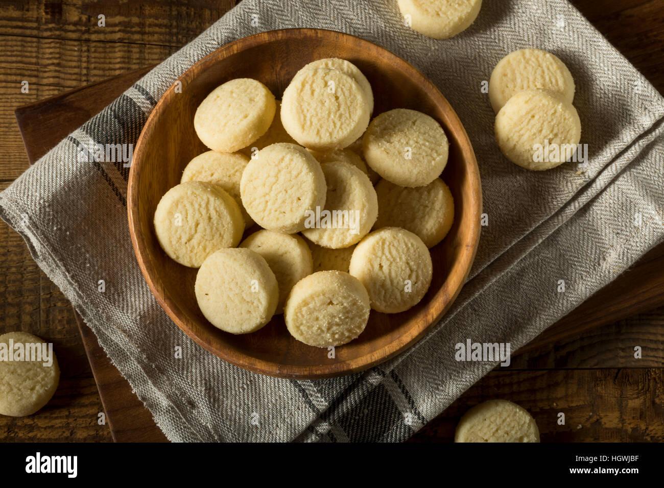 Bolinhos doces caseiros Cookies pronto para comer Imagens de Stock