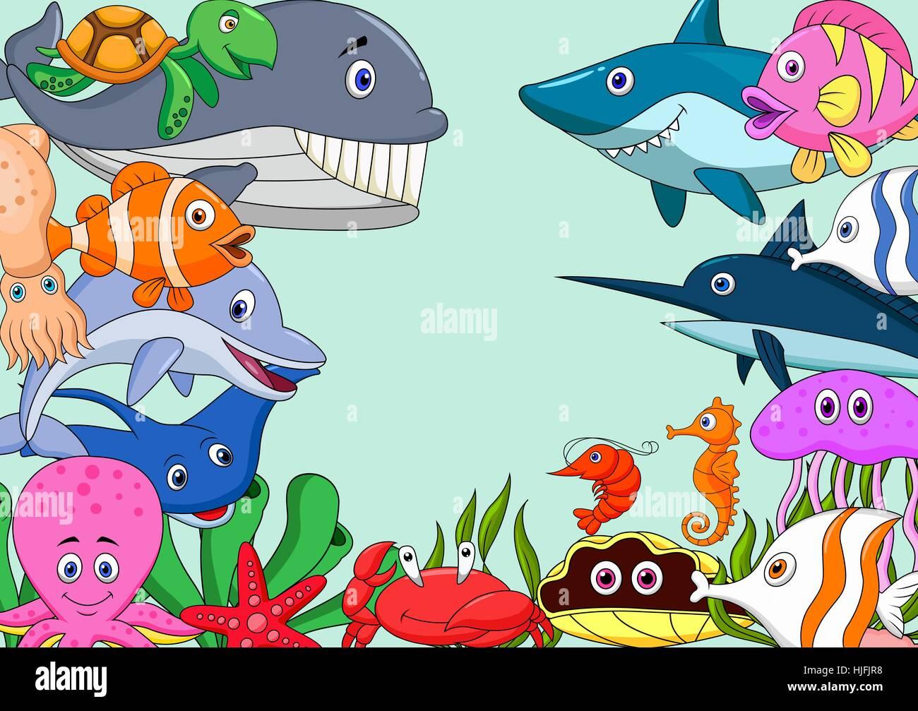 Aquarium Fish Cartoon Backdrop Background Laugh Laughs