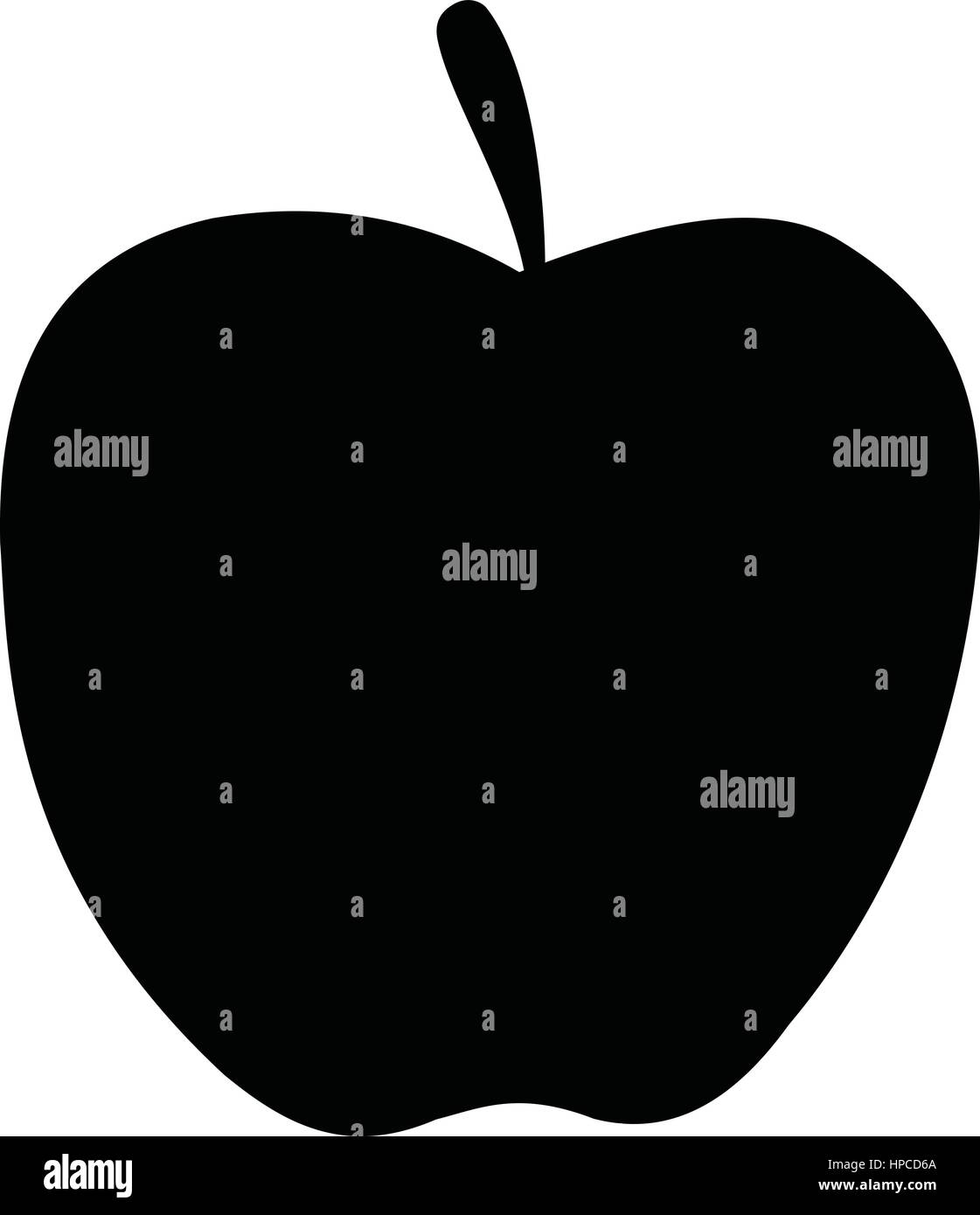Uma silhueta em preto e branco de um apple ilustrao do vetor uma silhueta em preto e branco de um apple altavistaventures Choice Image