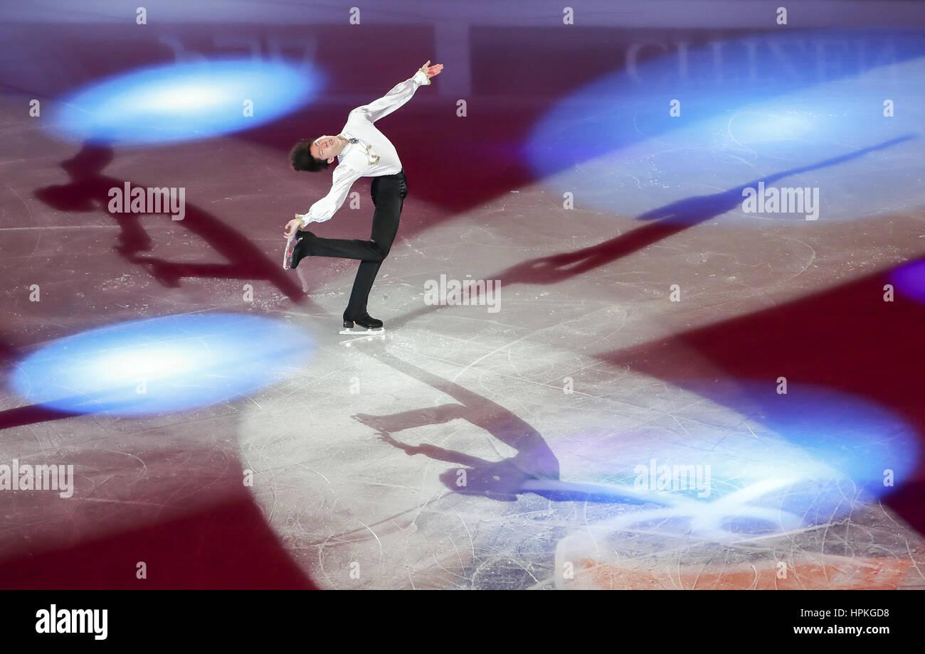 Gangneung, a leste de Seul, na Coreia do Sul. 19 Fev, 2017. Sihyeong Lee (KOR) Figura Skate : ISU quatro Continentes Imagens de Stock
