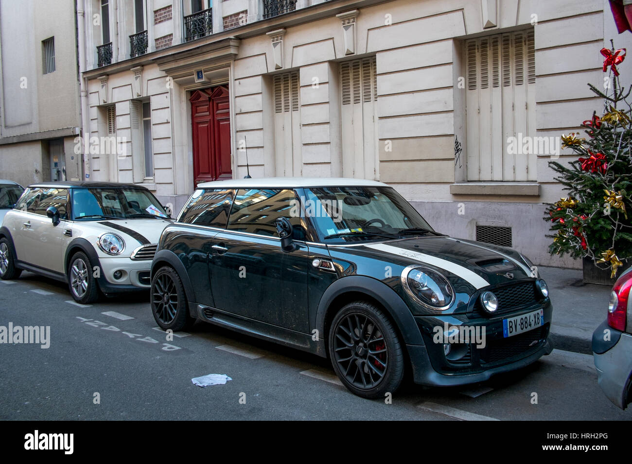 Mini R56 John Cooper Works Parked In A Parisian Street Stock Photo