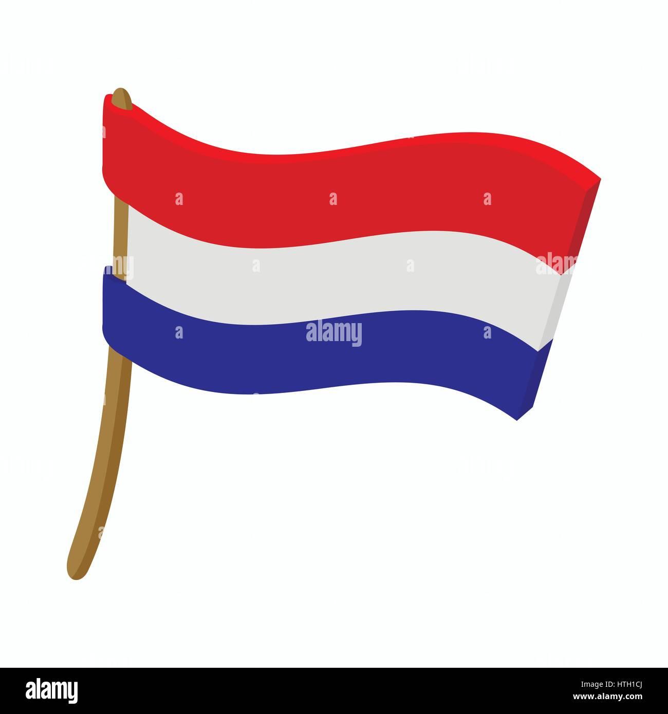 o ícone de bandeira dos países baixos ao estilo dos desenhos
