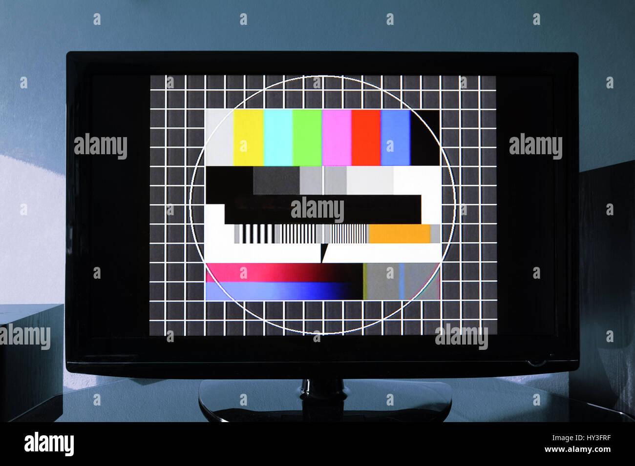 Imagem de teste, Fernseh-Testbild televisão Imagens de Stock