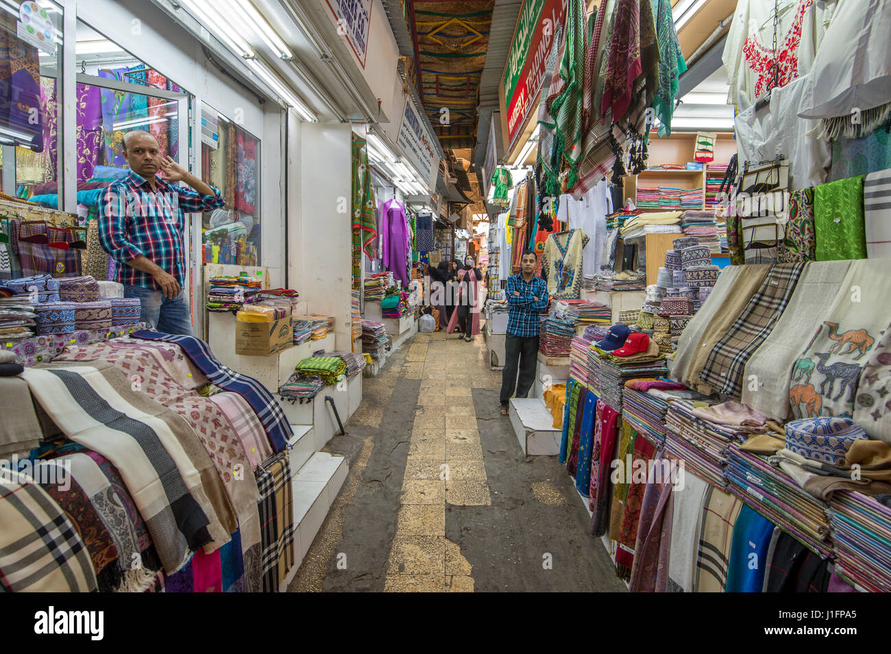 Muscat, Oman - Souq Muttrah View down narrow street in