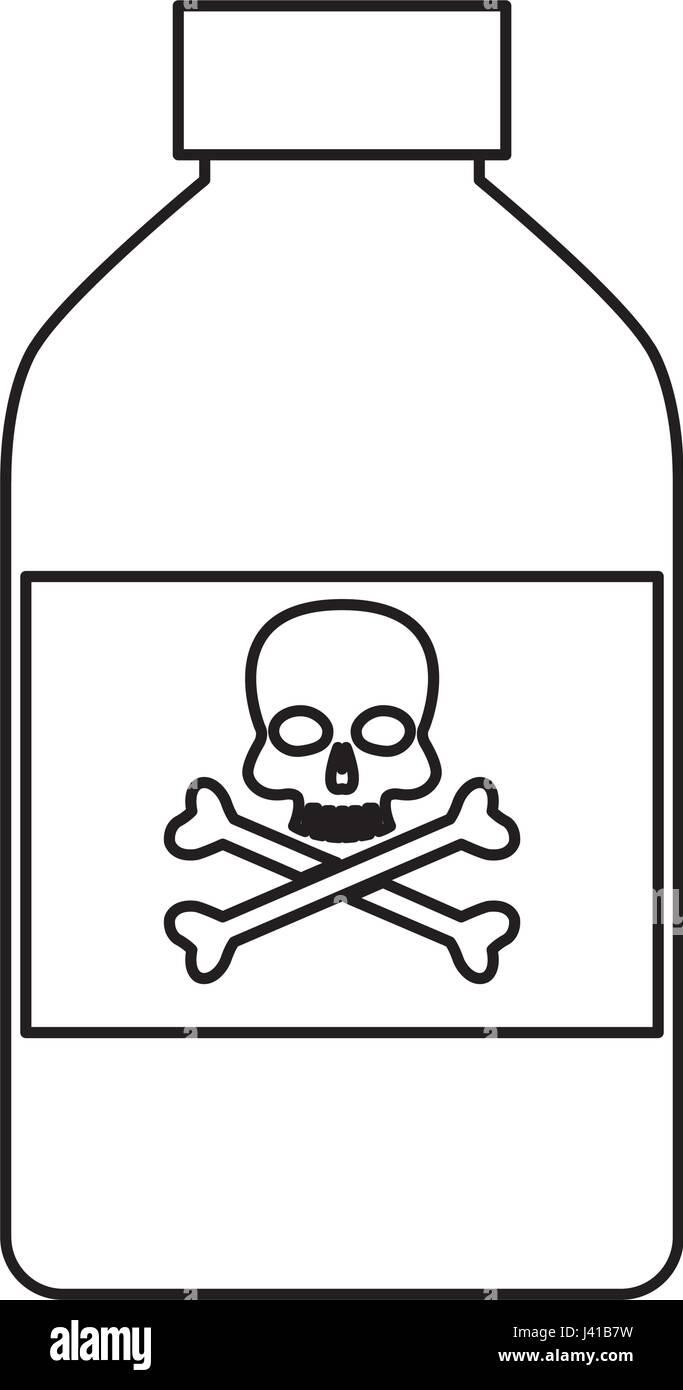 new arrival ecf6a 846b3 bottle poison chemical danger skull bone line Stock Vector ...