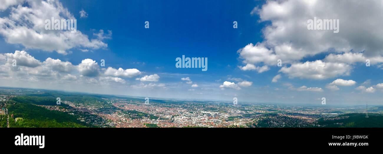 Vista panorâmica de Estugarda, Alemanha Imagens de Stock