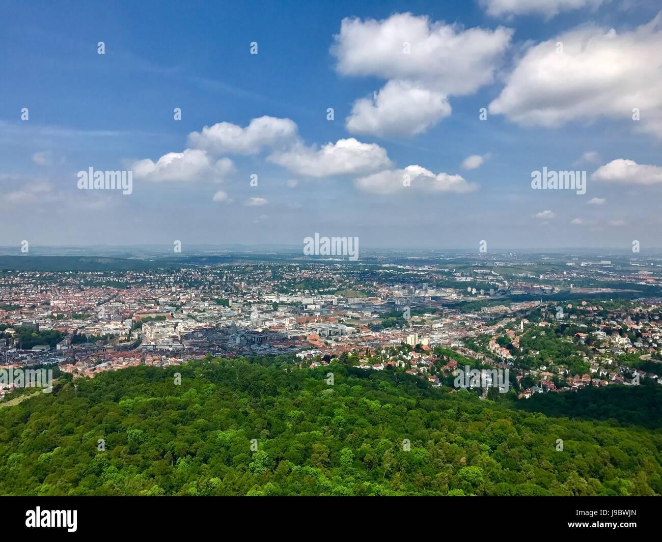 Vista da cidade de Estugarda, Alemanha Imagens de Stock