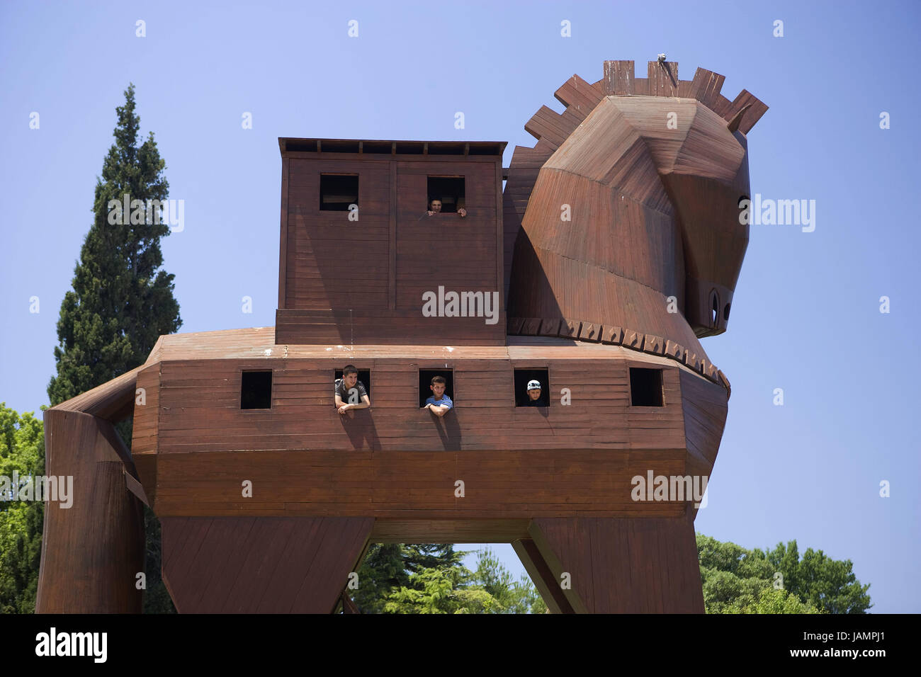 Turkey,Troy,Trojan horse,tourist,no model release,west coast,wooden