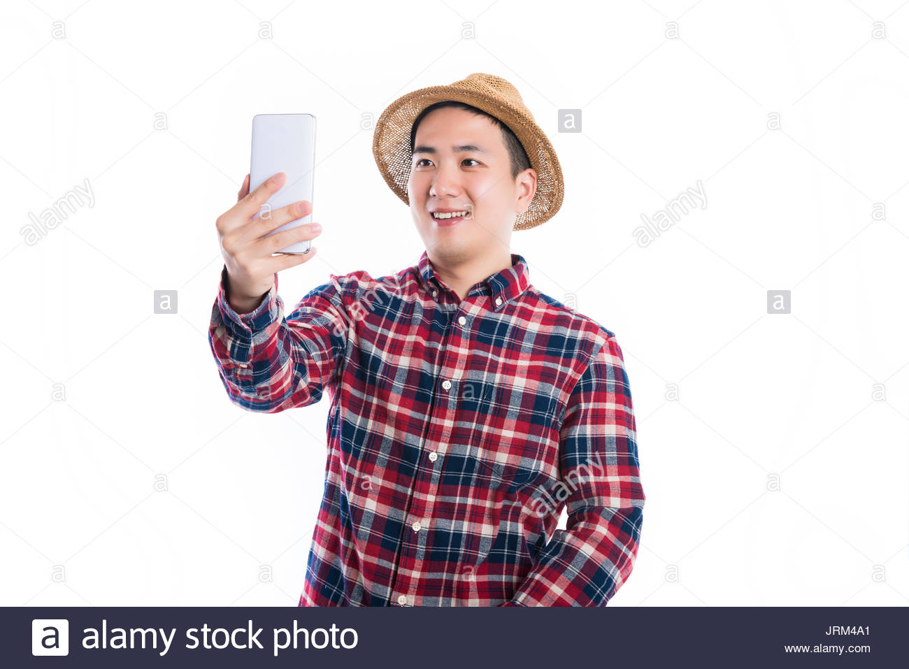 Um Jovem Em Um Chapéu De Palha Foto Imagem De Stock 152262489 Alamy