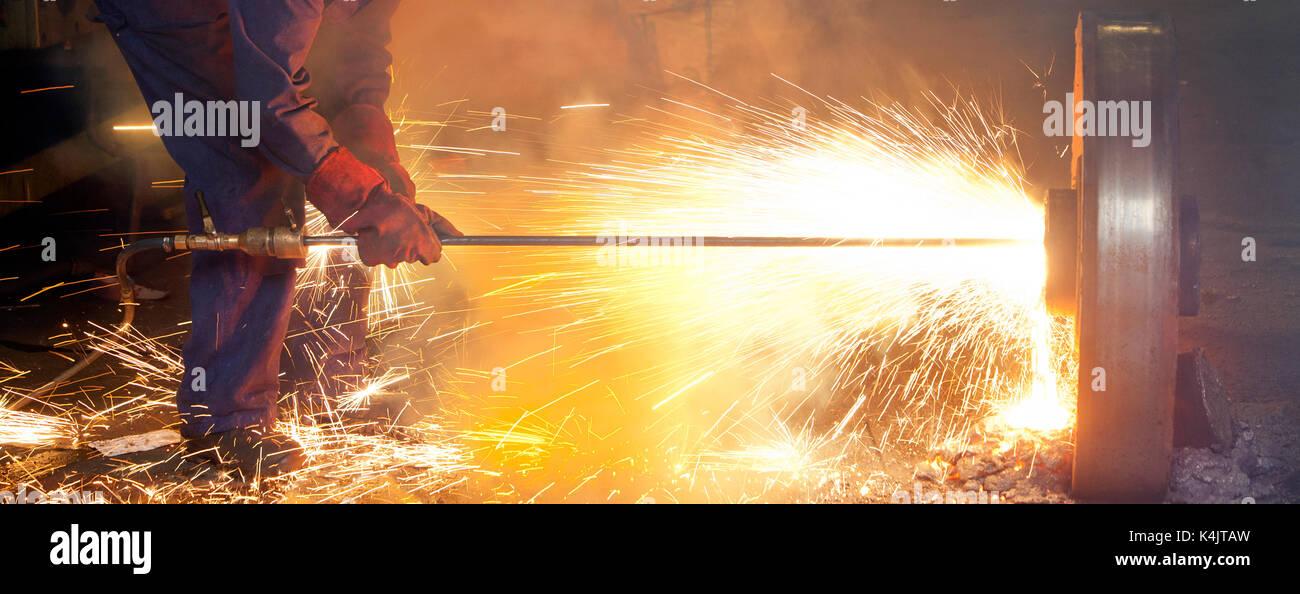 Lança térmica é de aço de fusão Imagens de Stock