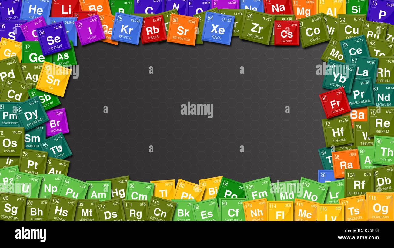 Diagram periodic table elements fotos diagram periodic table estrutura colorida feita com smbolos da tabela peridica dos elementos com os 4 novos elementos ccuart Images