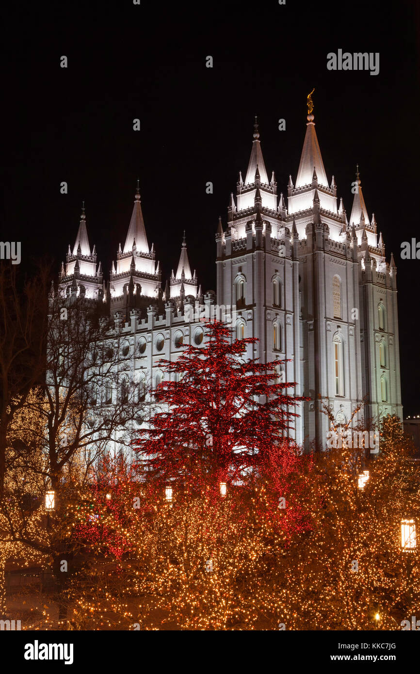 Temple Square Salt Lake City Christmas Lights.Christmas Lights At The Salt Lake Temple Salt Lake City