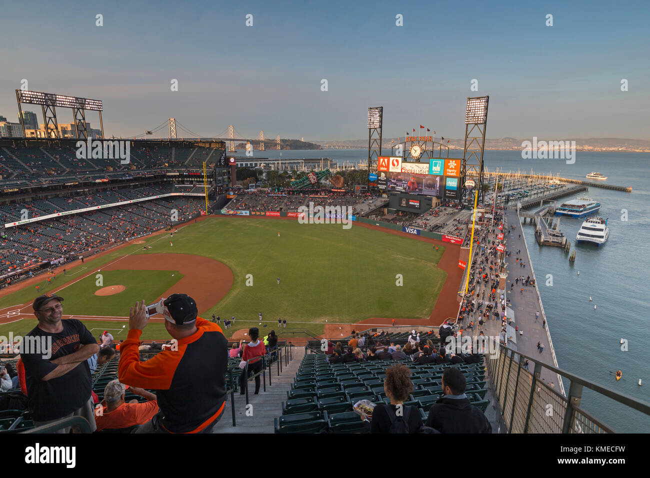 Att Ballpark, casa do time de beisebol san francisco giants, San Francisco, Califórnia, Estados Unidos da América Imagens de Stock