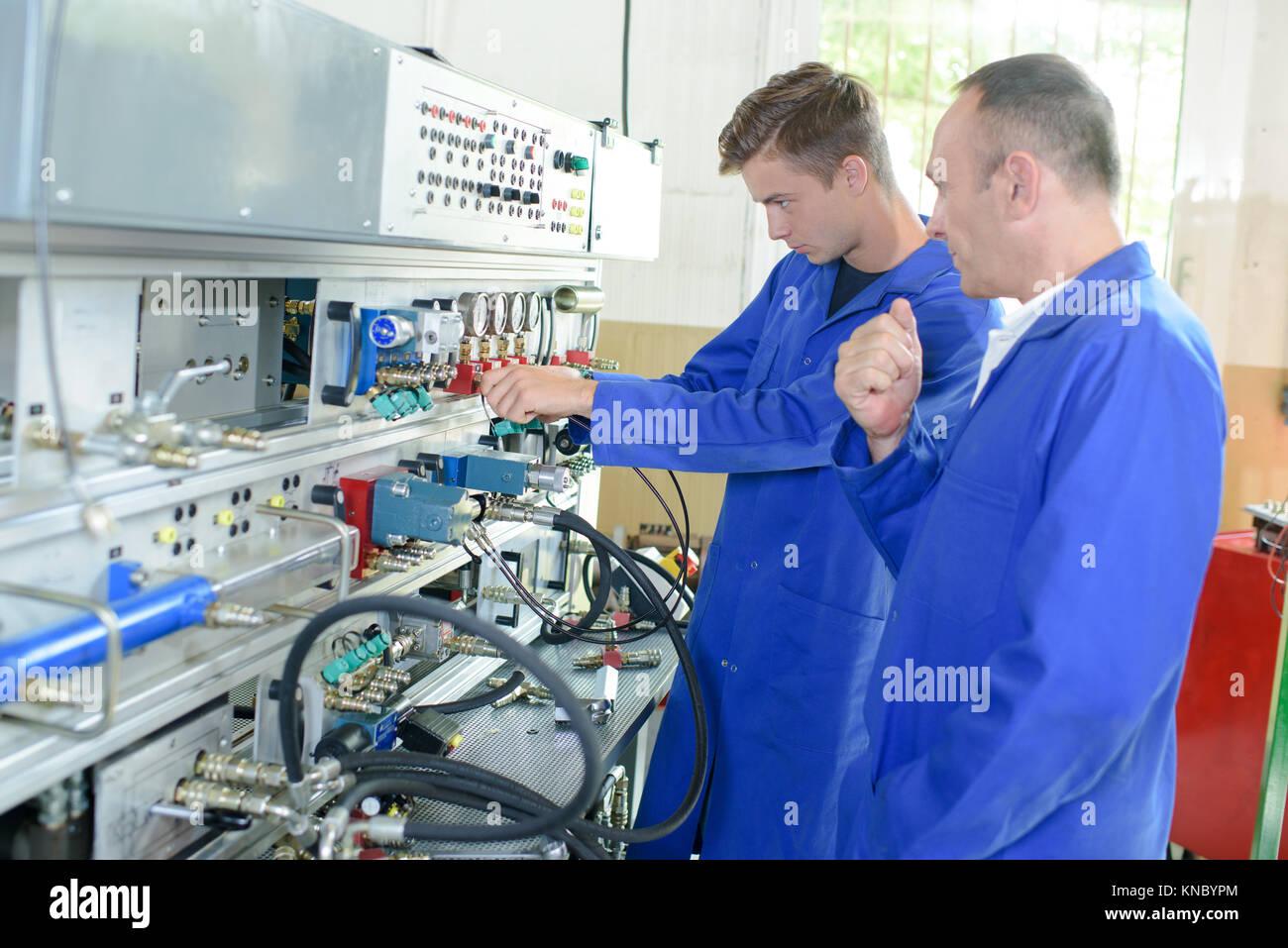 Máquina fabricante colega Imagens de Stock