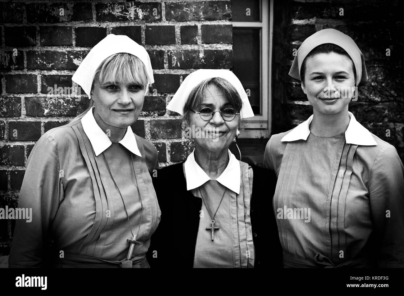 "ARD- Dreharbeiten ""eine halbe Ewigkeit"": EUROPA, Alemanha, LUENEBURG, 13,07.2010: Ulrike Grote, Cornelia Imagens de Stock"