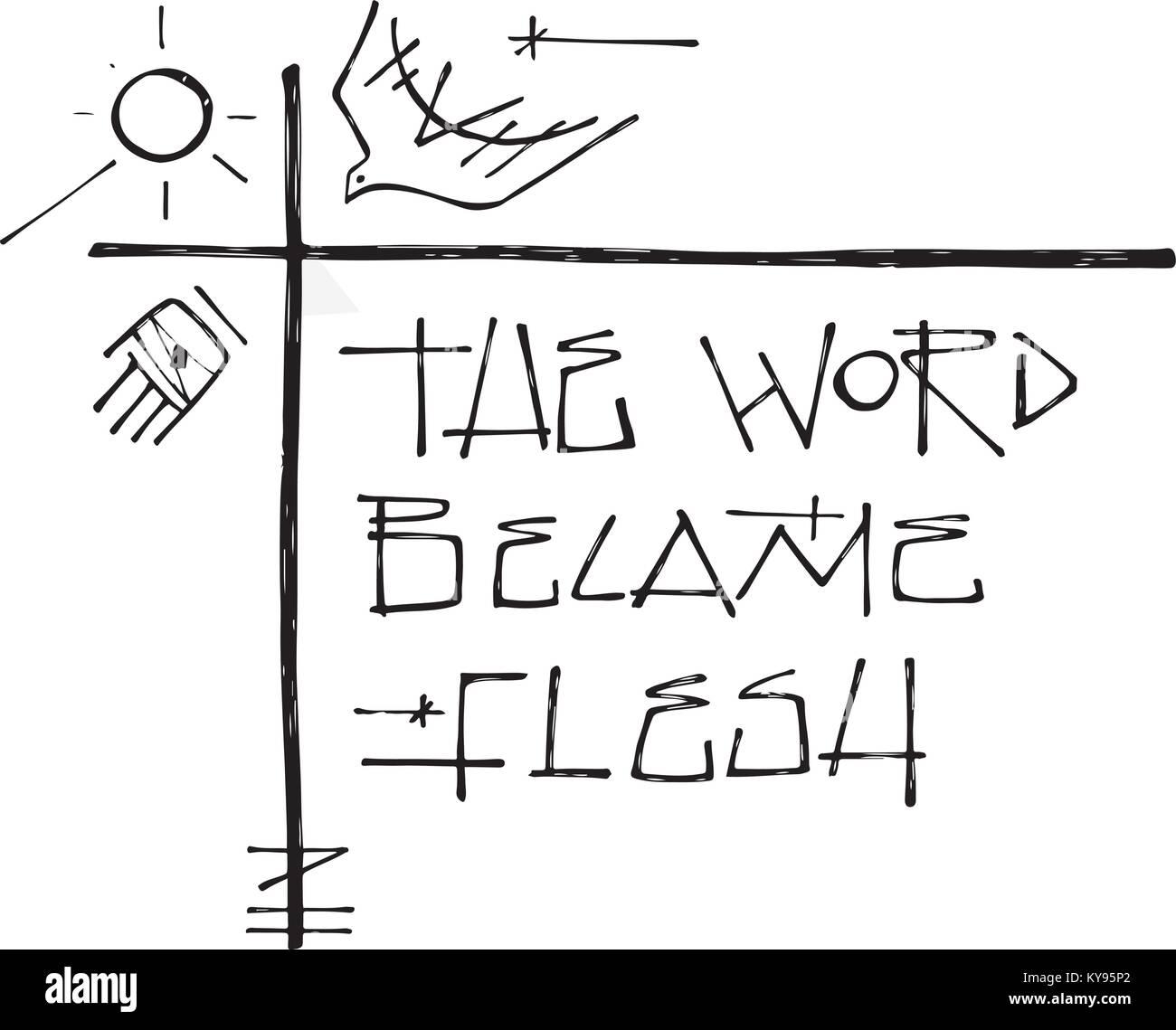 ilustração vetor desenhado à mão ou desenho de alguns símbolos