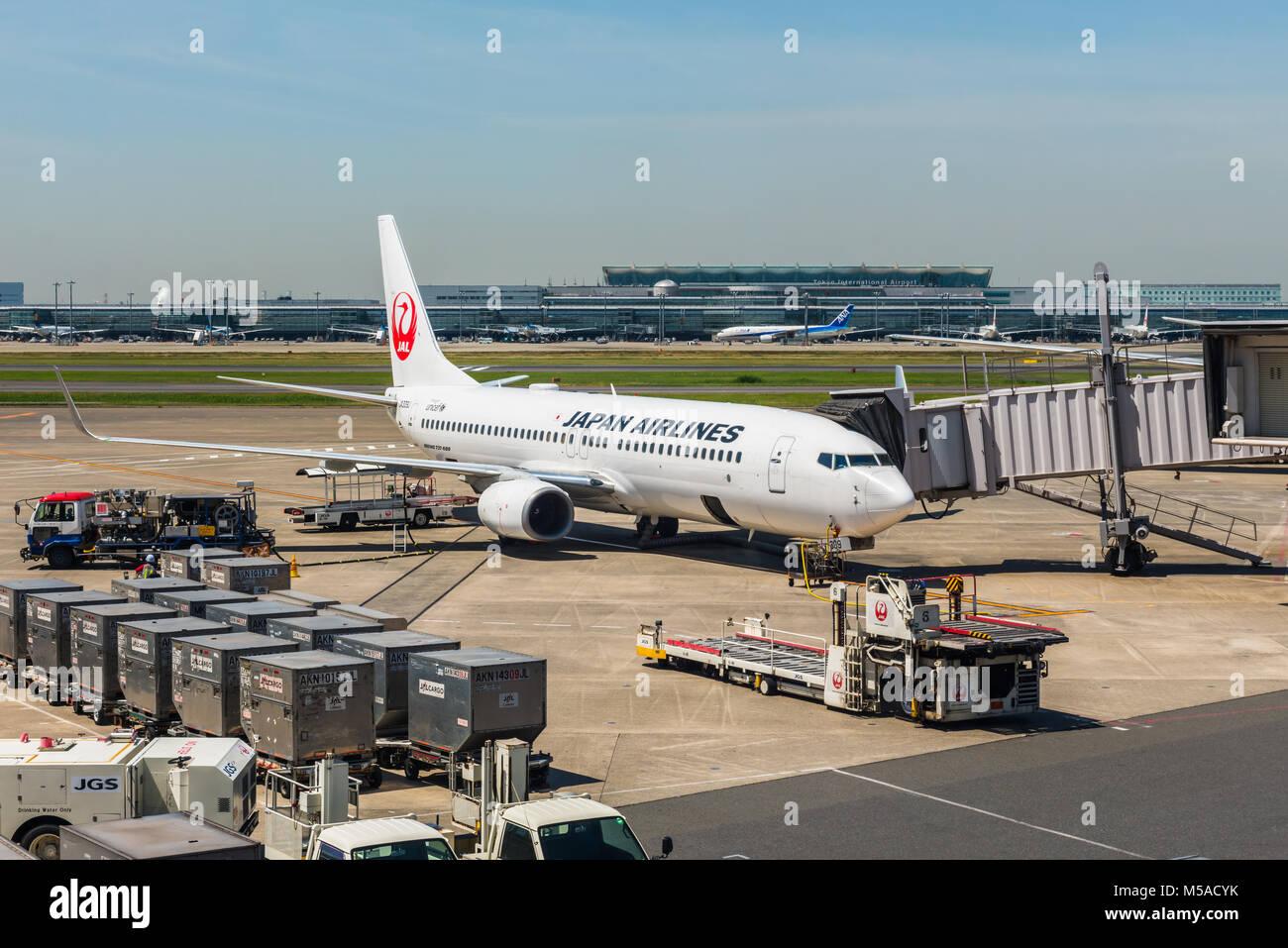 Aeroporto Tokyo : Japan air lines boeing oo ja j no aeroporto de haneda