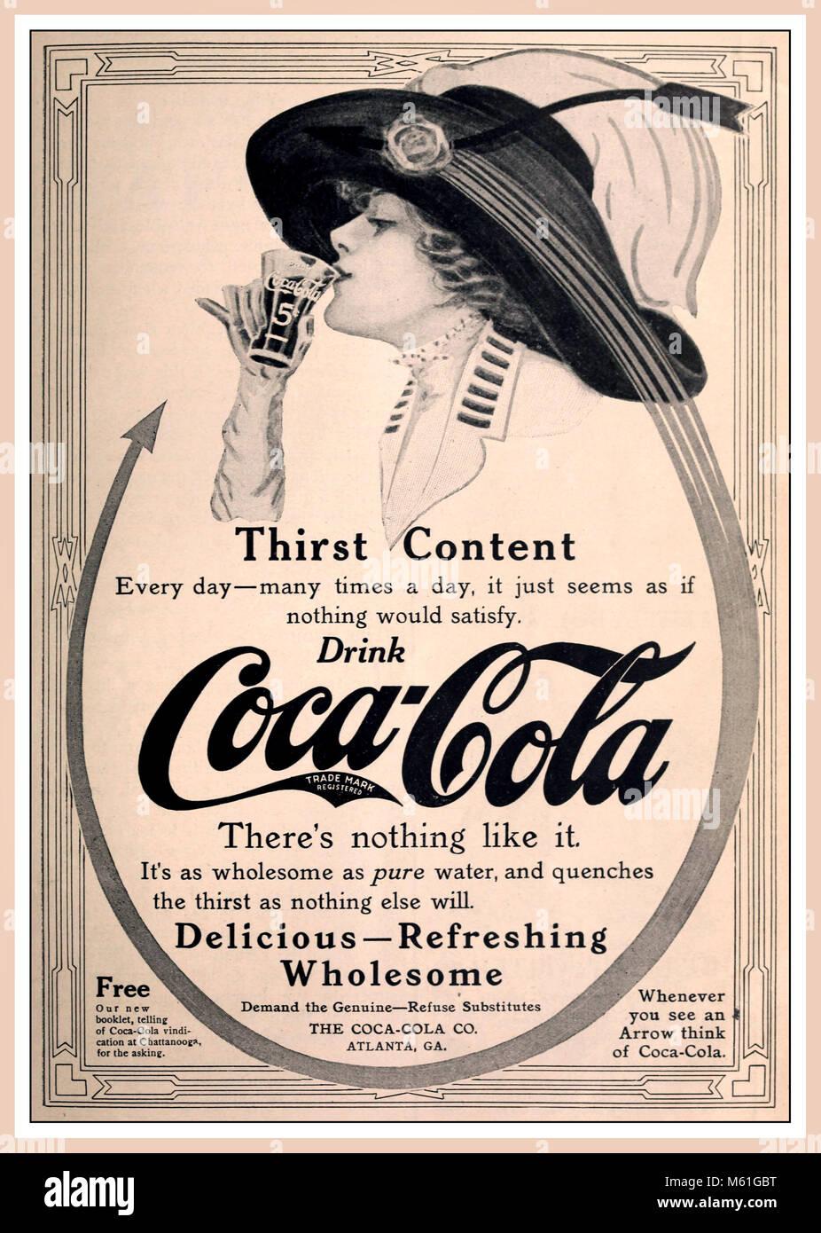 Vintage 1900's Coca Cola advertisement 'Drink Coca Cola