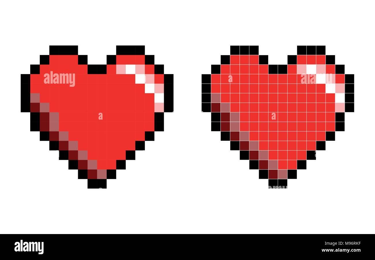 Coeur Pixel Art
