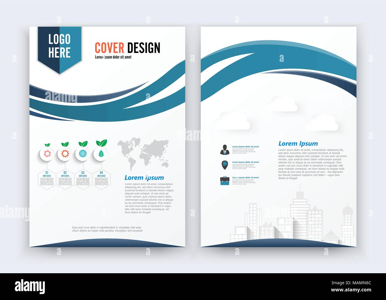 Vector Brochure Flyer design Layout template, size A4, Curve