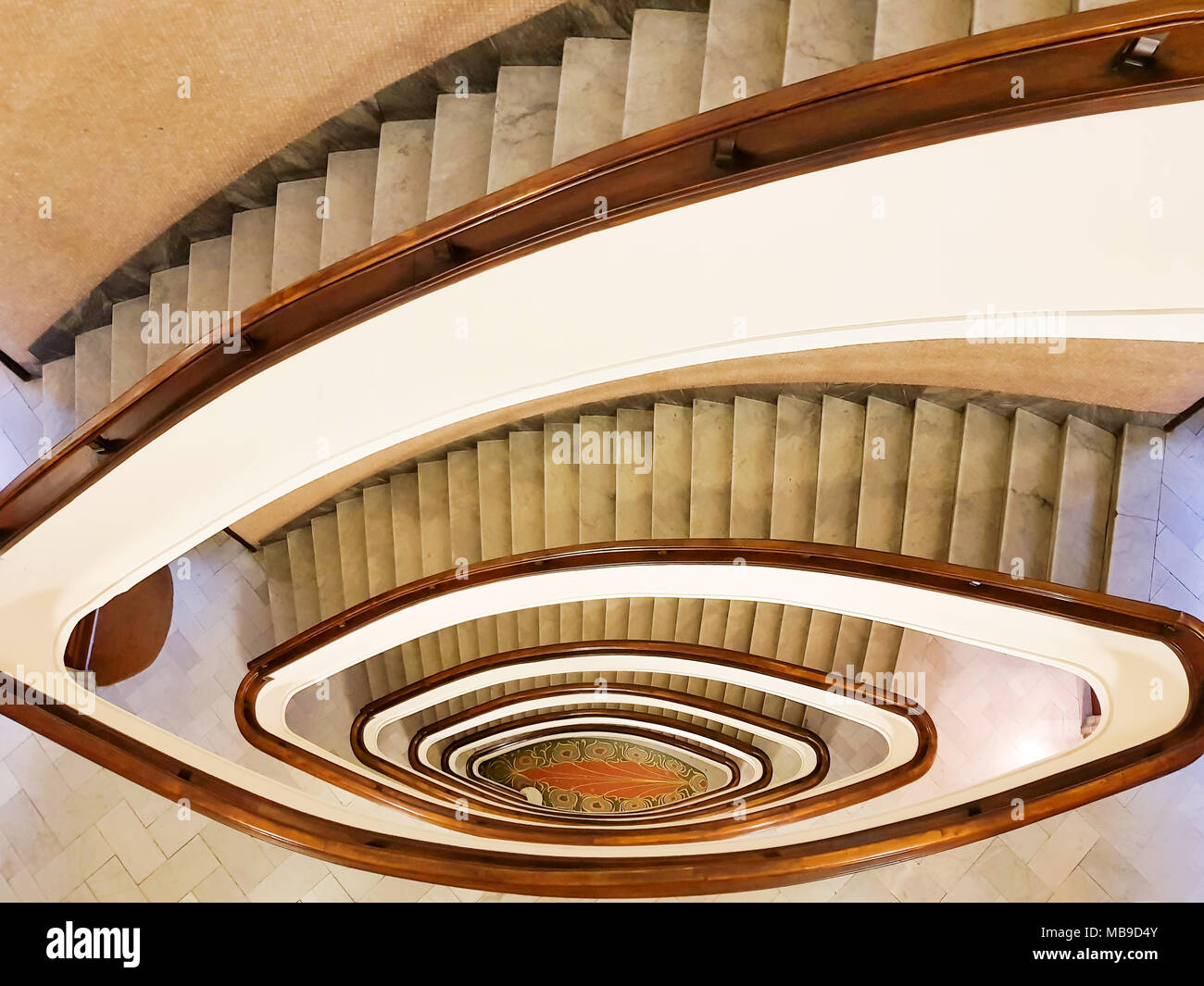 View To The Beautiful Spiral Staircase In Building , Spiral ...