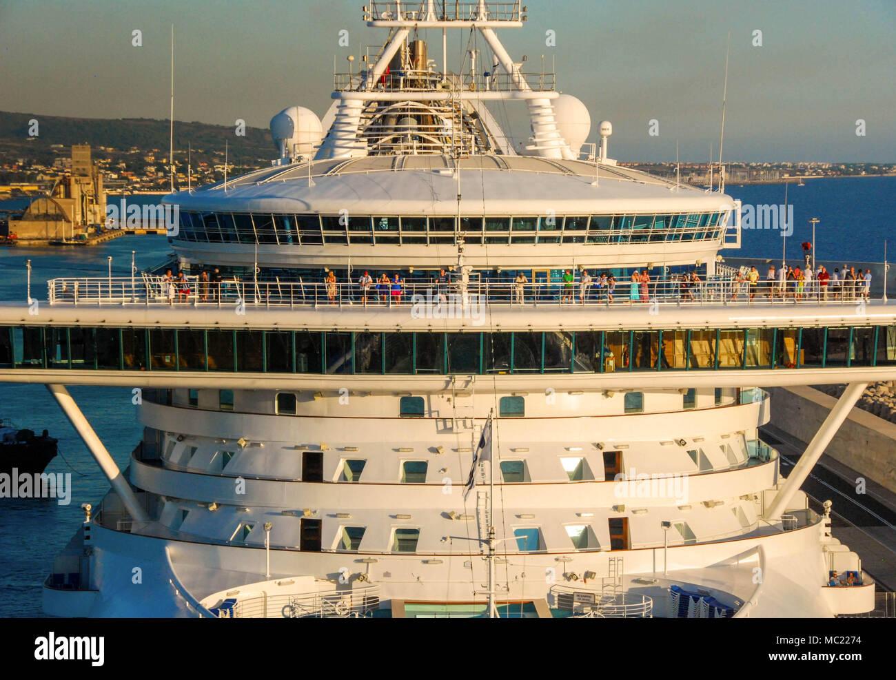 O Grand Princess atracados no porto de