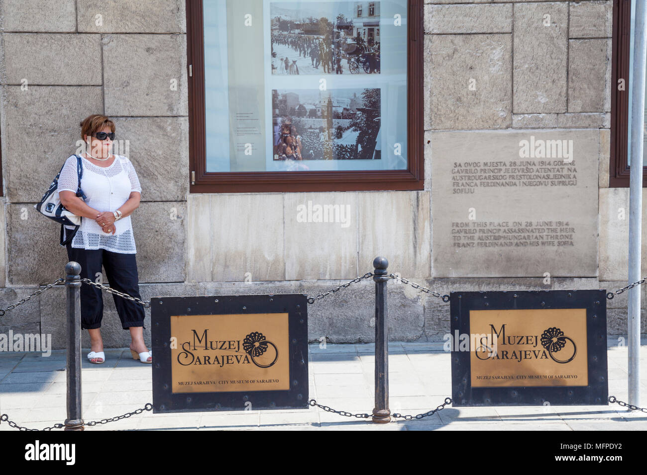 A Woman Standing Near The Spot Where Archduke Franz
