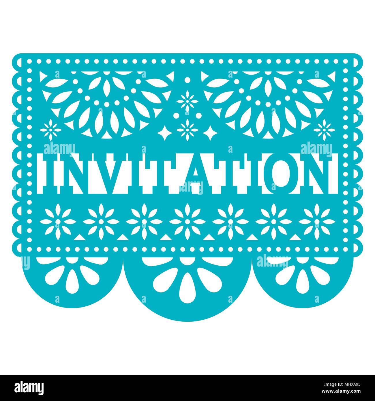 Invitation vector vectors fotos invitation vector vectors imagens convite papel picado vector design parte carto de saudao padro mexicano imagens de stock stopboris Gallery