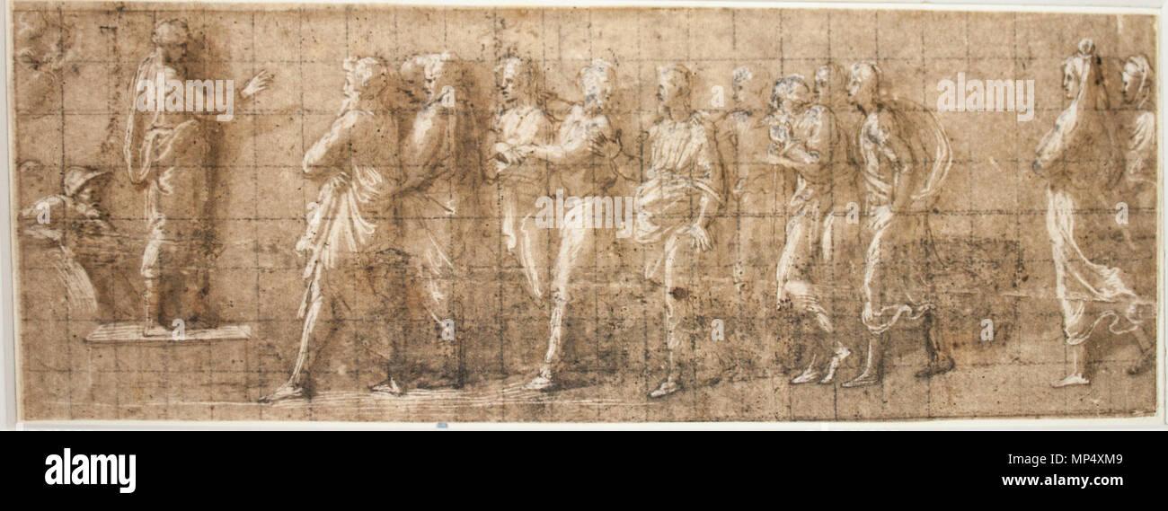 inglês josué aos israelitas em siquém desenho de raffaello sanzio