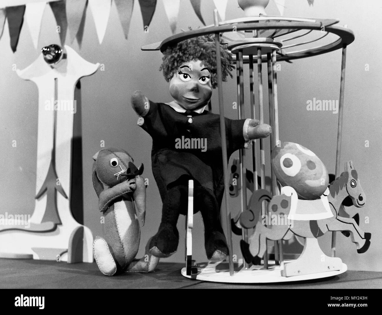 Plumpaquatsch, Kinderunterhaltungssendung, Deutschland 1972 - 1975, Mitwirkende: Flonny und Johnny Imagens de Stock