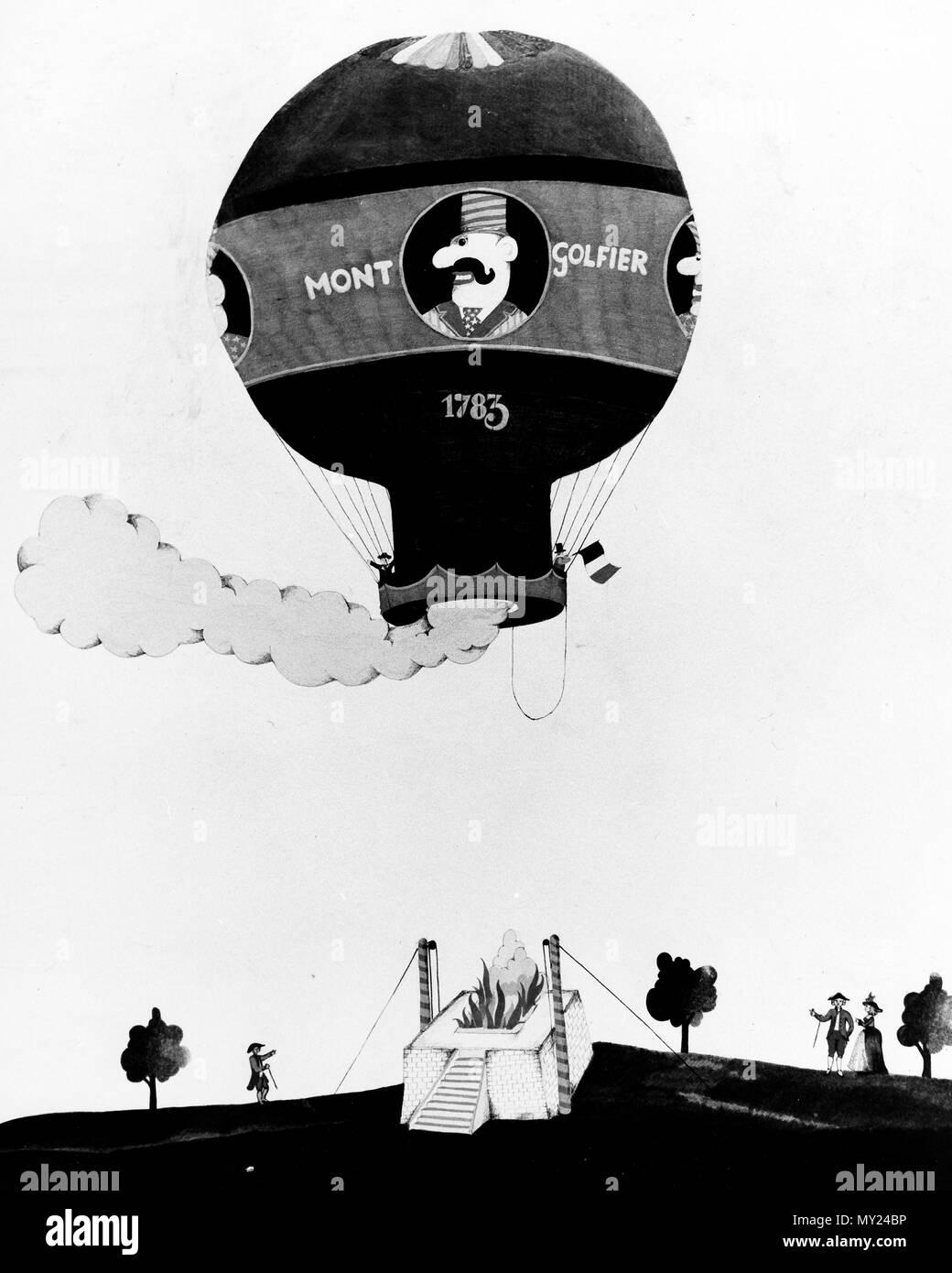 Plumpaquatsch, Kinderunterhaltungssendung, Deutschland 1972 - Szenenfoto Montgolfiere 1975, Imagens de Stock