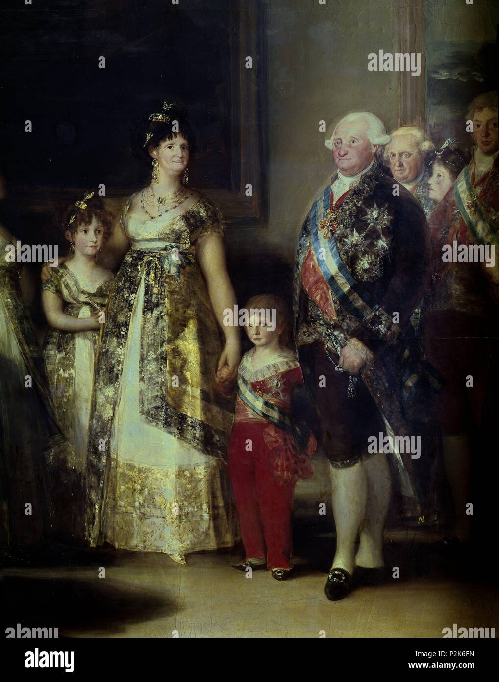The Family Of Carlos Iv Detail 1800 Oil On Canvas P00726