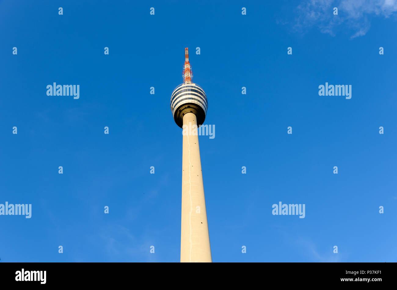 A Torre de Televisão em Stuttgart, Alemanha - Primeira torre de TV do mundo Imagens de Stock