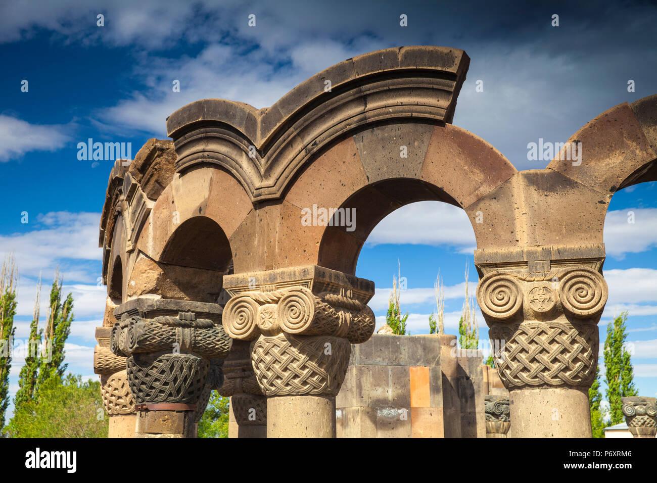 Arménia, Yerevan, Catedral de zvartnots Imagens de Stock