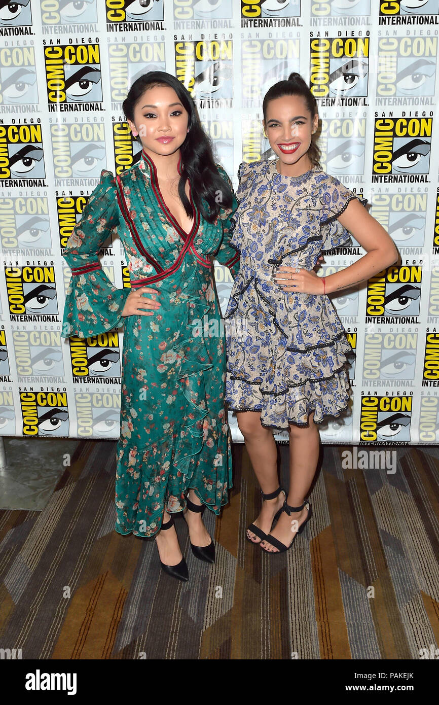 Lana Condor and Maria Gabriela de Faria at the Photocall for