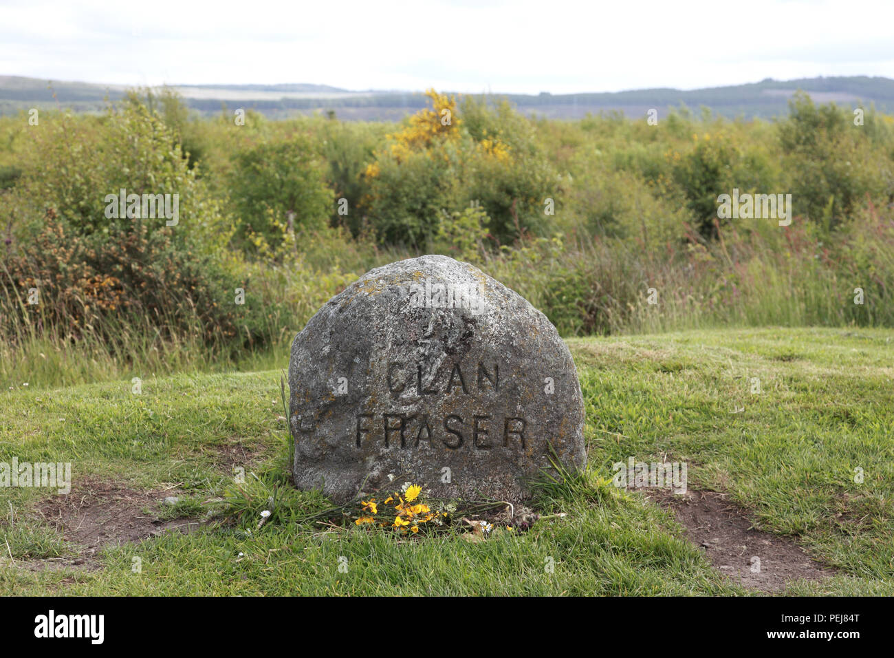 The headstone of the Clan Fraser to mark the graves of