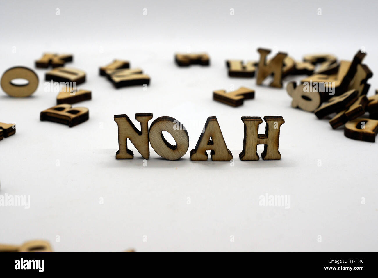 Masculino popular primeiro nome Noé Imagens de Stock