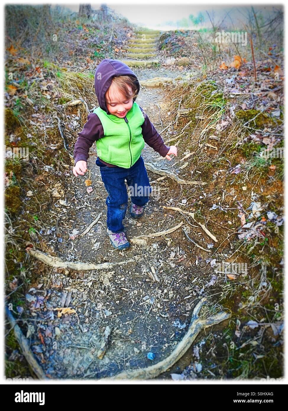 Bebês em uma caminhada Imagens de Stock