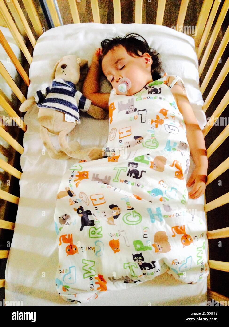 Dormir Toddler Imagens de Stock